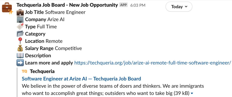 Slack job opportunity